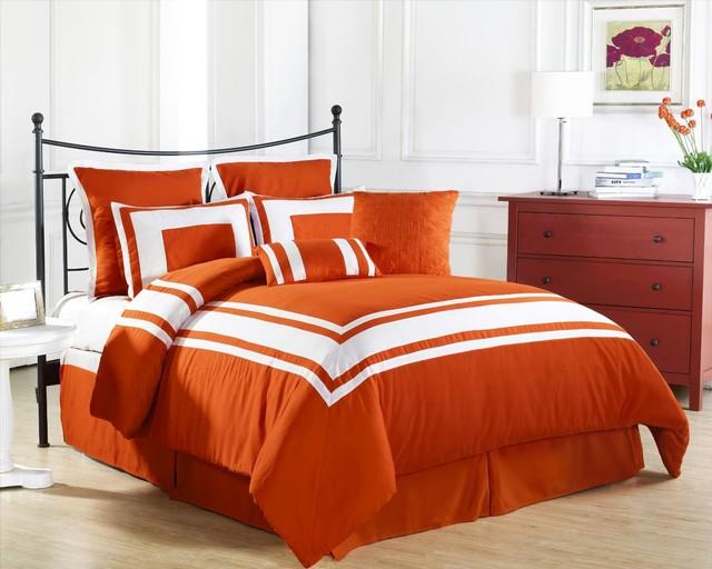 Lux Decor Down Alternative Comforter Set Orange