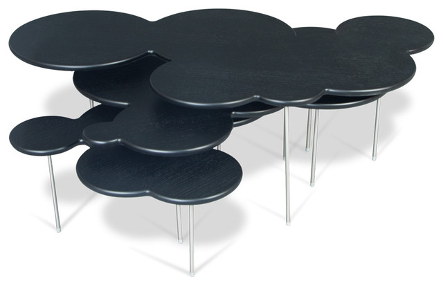 Clouds Coffee Table Set Black Modern Coffee Table Sets