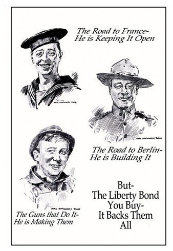 But - The Liberty Bond You Buy - It Backs Them All 20x30 poster contemporary-prints-and-posters