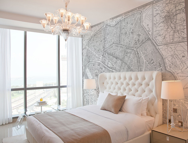 Custom Printed Map Wallpaper Murals contemporary wallpaper