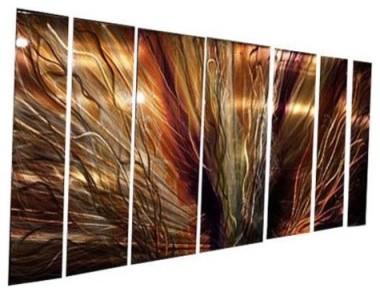 SWS00001 Metal Wall Art - Set of 7 - 66W x 23.5H in. modern-artwork