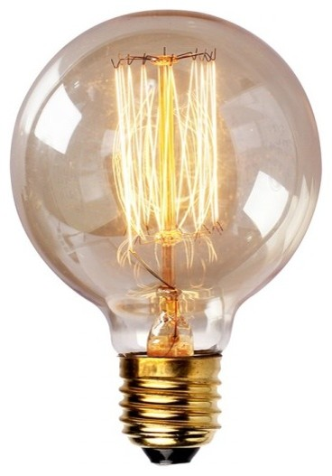 Edison tungsten globe filament vintage light bulb industrial incandescent bulbs raleigh Tungsten light bulbs