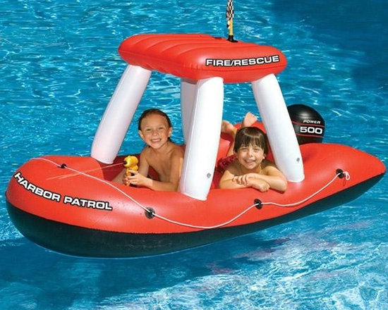 Fireboat Squirter Inflatable Pool Toy - -Constructed from heavy gauge PVC