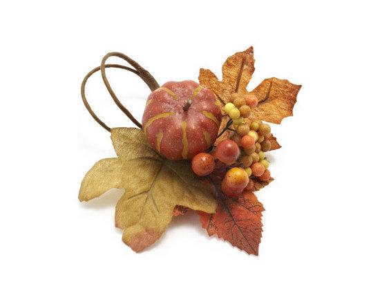 Harvest Pumpkin Napkin Ring -