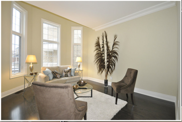Luxury Custom Built Home Mississauga, ON staging by contemporary-living-room