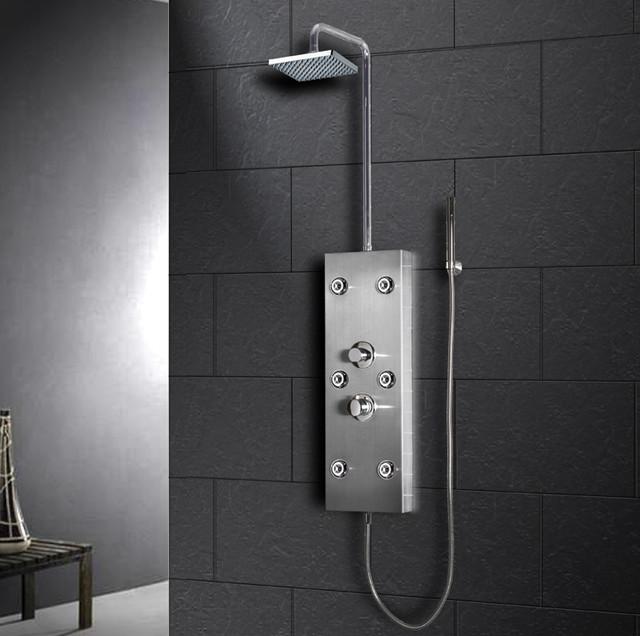 Stainless Steel Shower Panel - Ariel modern-bathtubs
