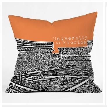 Bird Ave University of Florida Throw Pillow modern-decorative-pillows