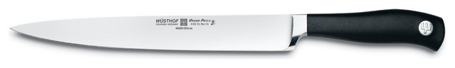 """Wusthof Grand Prix II Carving Knife, Stainless Steel, Black, 9"""" contemporary-boning-knives"""