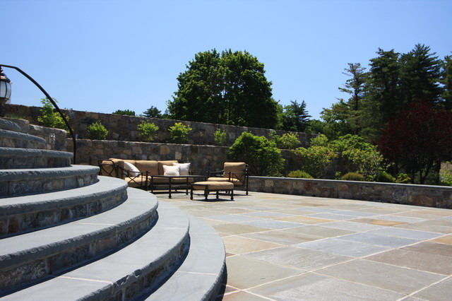 Great Masonry Accents to a Seating Area on the Patio traditional-patio