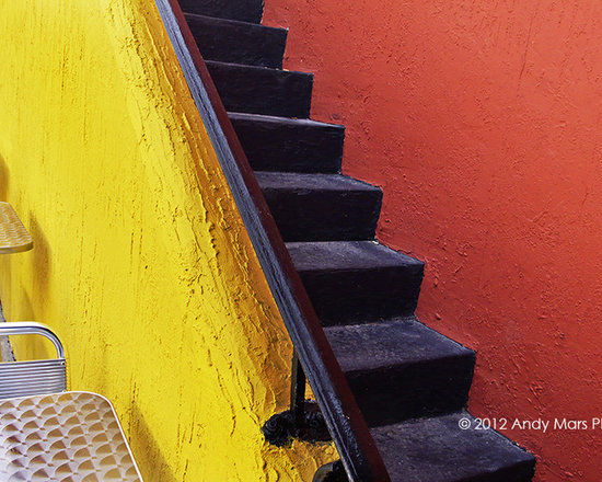 Yellow & Orange Wall and Stairs - Cafe In Florida © Andy Mars Photography