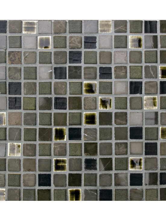 Cascade Blend #8 - The Cascade Collection includes 11 different blends of ceramic tile and natural stone