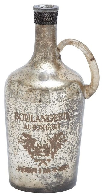 Unique and Attractive Glass Bottle with Vintage Design traditional-vases