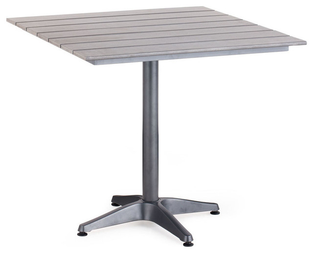 Zuo Modern Capital Square Dining Table In Gray Modern Dining Tables