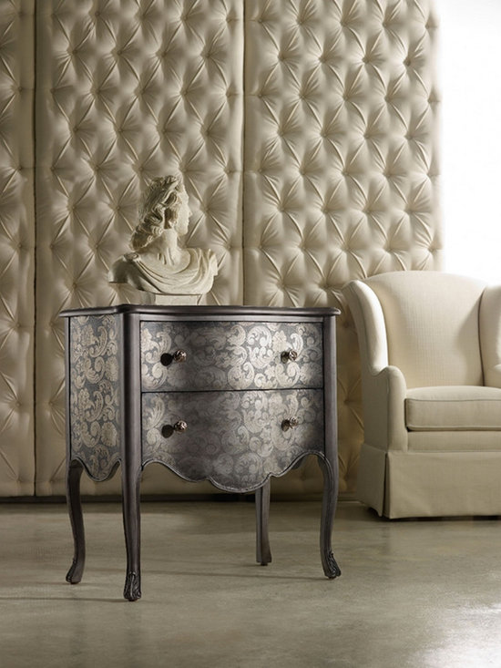 Hooker Furniture Living Room Melange Charisma Chest - Hooker Furniture Living Room Melange Charisma Chest, rich and wrapped in delicately patterned aluminum.