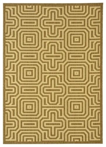Courtyard Brown/Natural Geometric Rug modern-rugs