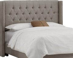 Skyline Furniture Tufted Wingback Headboardr contemporary headboards