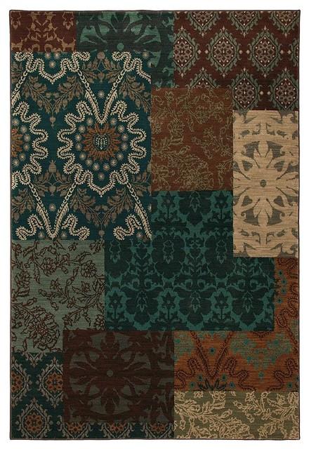contemporary carmel hallway runner 2 39 4 x8 39 3 runner multi color teal area rug contemporary. Black Bedroom Furniture Sets. Home Design Ideas