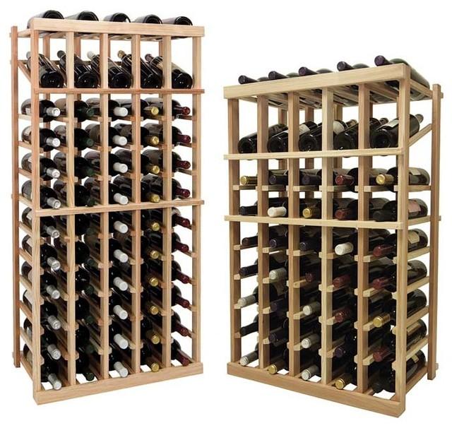 Vintner Series Wine Rack - Individual Bottle Wine Rack - 5 Columns traditional-wine-racks