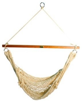 Single Point Rope Hammock Chair traditional-hammocks-and-swing-chairs