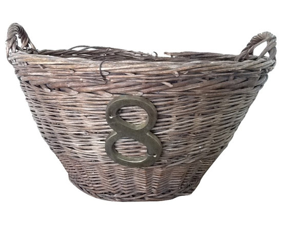 French Harvest Basket - Vintage French Harvest Basket. Great decor piece.