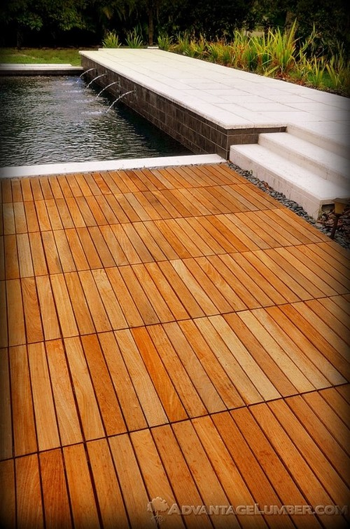 Just how easy is it to install advantage ipe deck tiles for How to install decking