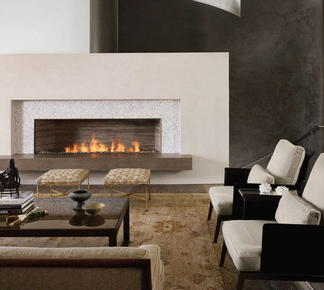 Spark modern fires linear burner system contemporary fireplaces and fireplace accessories - Contemporary linear fireplaces cover idea ...