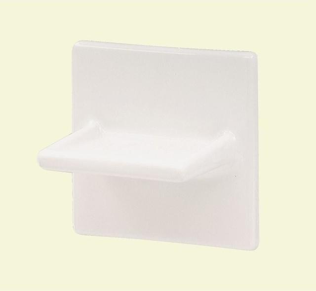 Lenape Soap Dishes Wall Mounted White Ceramic Soap Dish 1803w Contemporary Bathroom
