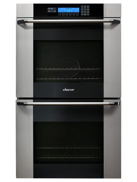 "Dacor Discovery 30"" Double Wall Oven, Stainless W/ Black Glass 