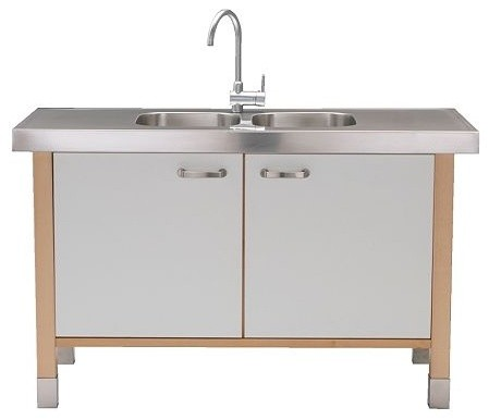 VÄRDE Sink cabinet/sink w double-bowl - modern - bathroom vanities ...