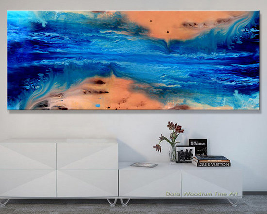"""Abstract Painting """"Beach 2"""" by Artist Dora Woodrum - Original Abstract Painting  -  """"Beach 2"""""""