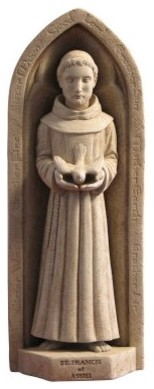 Washington National Cathedral St. Francis Wall Plaque/Garden Statue modern-garden-statues-and-yard-art