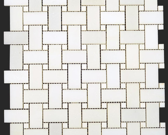 Thassos White Marble , Mosaic, Moulding Collection - Thassos White Marble Polished Basketweave Mosaic   http://allmarbletiles.com/tile-collections/collections/arctic-white-polish-marble-mosaic-tiles/thassos-white-marble-polished-basketweavee-mosaic.html