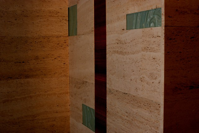wood and stone pre-assembled tiles contemporary