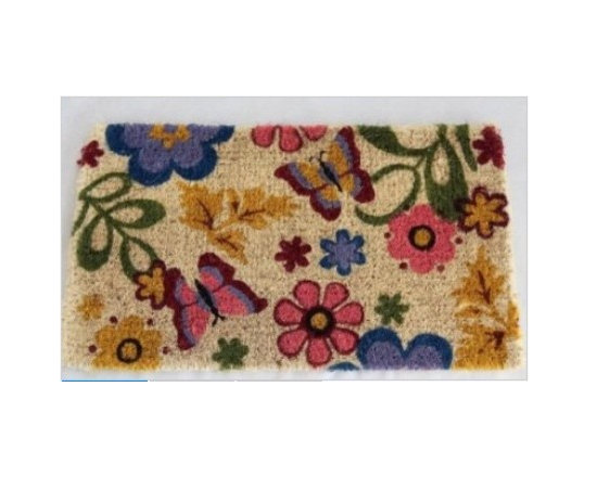 Coir Spring Butterfly Summer Garden Doormat - Homescapes are manufacturers of a variety of home and soft furnishings. They are suppliers to quality retailers and hotels and now their products are available directly to public. This means that consumers can buy department store quality products directly from the manufacturers. Homescapes have now come out with a lovely collection of doormats