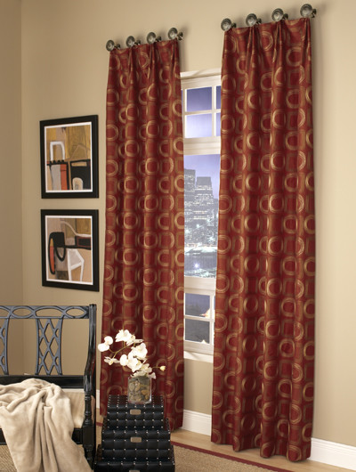 Medallion Hung Stationary Panels contemporary curtains