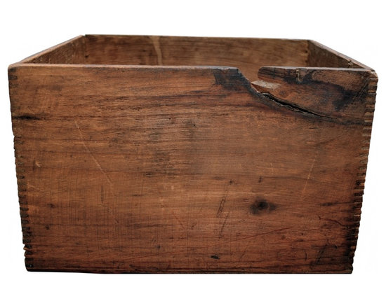 Wooden Box - Antique wood box in dovetail joints.