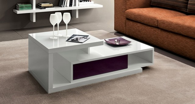 Modern white gloss coffee table Mary by La Primavera contemporary-coffee-tables