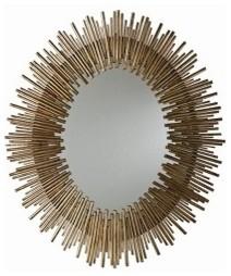 Prescott Iron Oval Mirror wall-mirrors