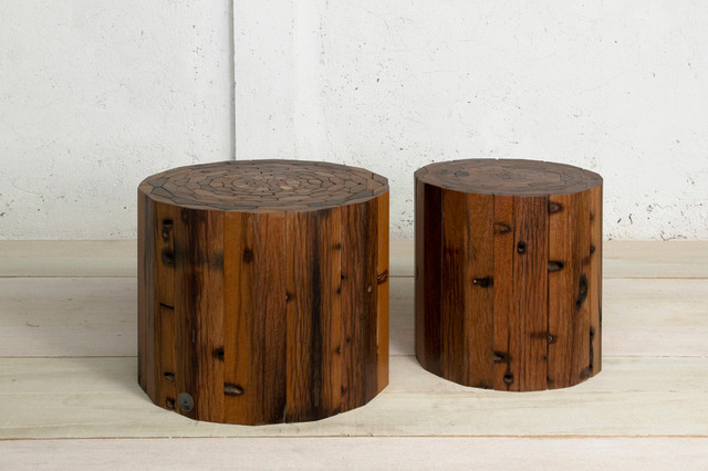 Leif End Table & Stool // Natural contemporary-side-tables-and-end-tables