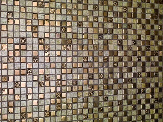 contemporary bathroom tile Thea by Dune - ceramic mosaic on mesh
