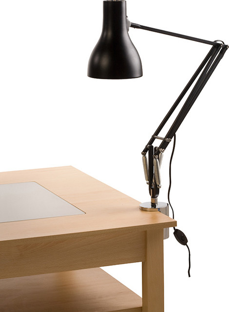 Type 75 desk clamp lamp black anglepoise eclectic wallpaper by horne - Table lamp types ...