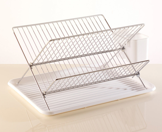Flat Pack Dish Drainer White - Modern - Dish Racks - by ...