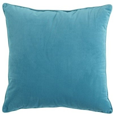 Turquoise Plush Pillow - Contemporary - Decorative Pillows - by Pier 1 Imports