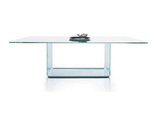 Sovet Italia - Sovet Italia | Valencia Clear Glass Dining Table, 79-Inch - Design by Lievore Altherr Molina, 2006.