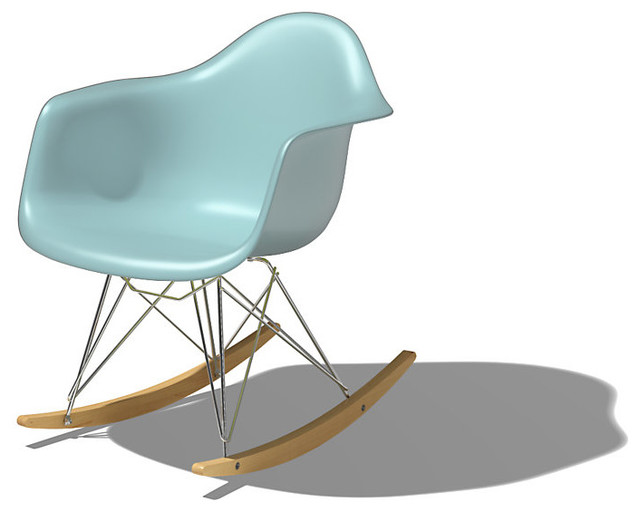 Eames Molded Plastic Rocking Chair - Modern - Rocking Chairs