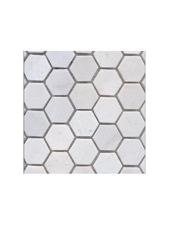 Bianco Carrara Marble 1.25 in. Hexagon -