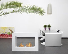 Large Qube Fireplace contemporary-fireplaces