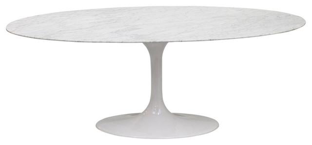 White Marble Table 78'' modern