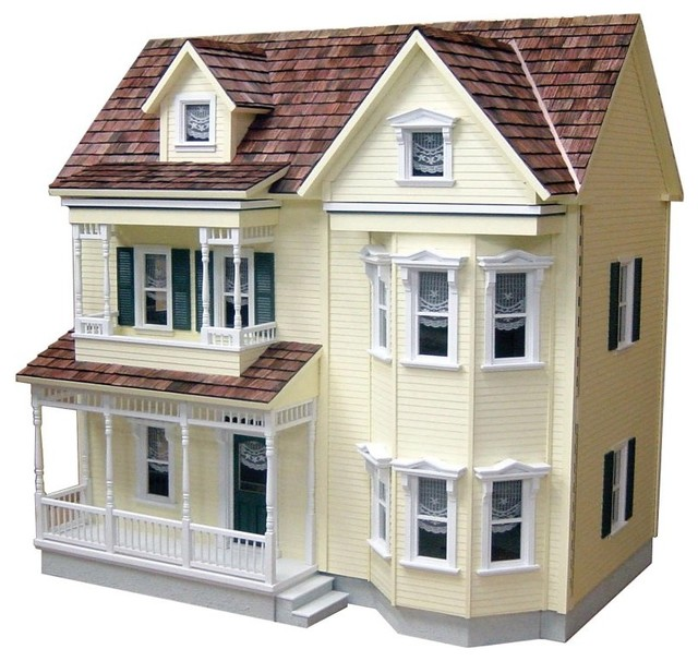 Real Good Toys Front-Opening Country Victorian Dollhouse Kit - 1 Inch Scale Mult - Contemporary ...
