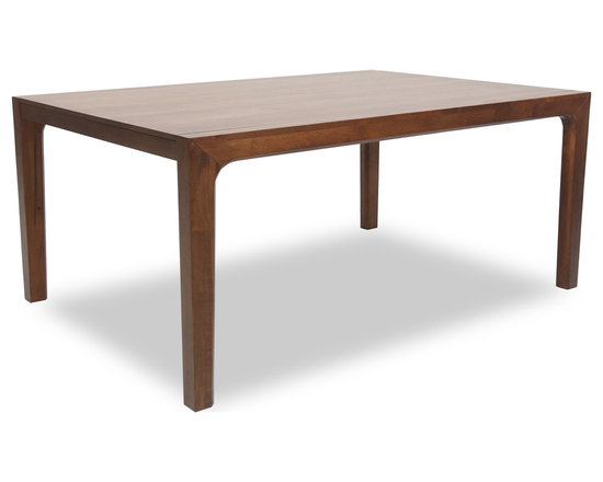 Bryght - Cole Cocoa Wood Dining Table For 8 - The Cole wood dining table is a versatile and beautiful contemporary design. Built to last with sturdy solid oak legs and a wood veneer top. Its delicately crafted wooden curves and N-shaped frame display its superb craftsmanship.